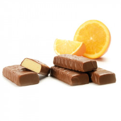 Sérovance Barre Orange enrobee Chocolat au Lait