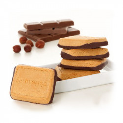 Biscuits Noisette socle Chocolat
